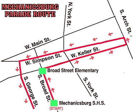 Halloween parade route